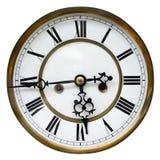Vecchio dettaglio dell'orologio Fotografie Stock Libere da Diritti