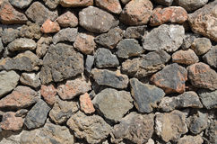Vecchio dettaglio della parete di pietra Immagine Stock Libera da Diritti