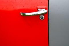 Vecchio dettaglio della porta di automobile Fotografia Stock