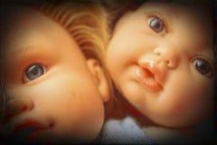 Vecchio dettaglio della testa della bambola Fotografie Stock