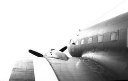 Vecchio dettaglio militare dell'aeroplano Fotografia Stock Libera da Diritti