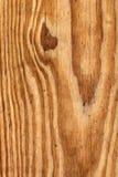 Vecchio dettaglio verniciato annodato stagionato di struttura di lerciume della plancia di Pinewood immagini stock
