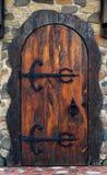 vecchio di legno del portello Fotografie Stock