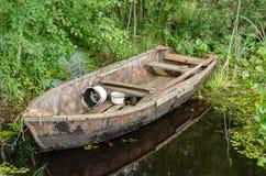 Vecchio di legno della barca Fotografia Stock