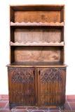 Vecchio di legno della mobilia scolpito Immagini Stock Libere da Diritti