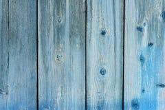 Vecchio di legno dipinto al blu, forte misero del fondo della plancia, da colore Fotografia Stock
