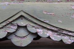 Vecchio di legno verde d'annata Fotografia Stock