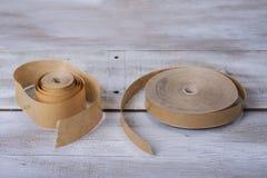 Vecchio di nastro di carta per uso della famiglia e della scuola Fotografia Stock