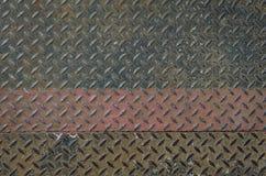 Vecchio di piastra metallica arrugginito Immagine Stock