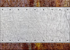 Vecchio di piastra metallica arrugginito sopra la griglia del pettine o il fondo della griglia, 3d, i illustrazione vettoriale