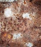 Vecchio, di piastra metallica sporco e arrugginito Fotografie Stock