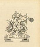 Vecchio diagramma dell'apparato Immagini Stock
