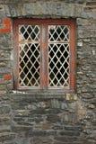 Vecchio diamante Windows al piombo Fotografie Stock Libere da Diritti