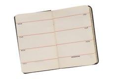 Vecchio diario aperto Fotografie Stock