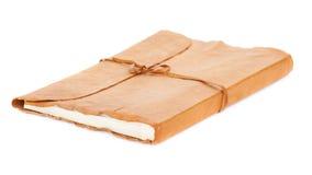 Vecchio diario o libro dell'album di foto isolato su fondo bianco Immagini Stock Libere da Diritti