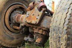 Vecchio differenziale posteriore del camion Fotografie Stock