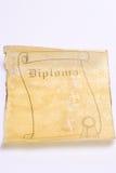 Vecchio diploma di carta del rotolo Fotografie Stock