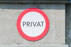 Vecchio dire del segno privato Fotografia Stock Libera da Diritti