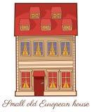 Vecchio disegno della mano di vettore della casa illustrazione di stock