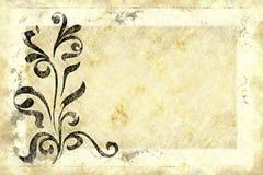 Vecchio disegno di carta floreale Fotografie Stock Libere da Diritti