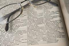Vecchio dizionario Fotografia Stock