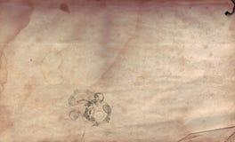 Vecchio documento afflitto Fotografie Stock
