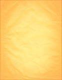 Vecchio documento arancione Fotografia Stock