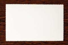 Vecchio documento bianco Fotografia Stock