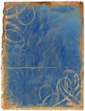 Vecchio documento blu Immagini Stock