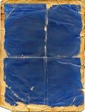 Vecchio documento blu fotografia stock