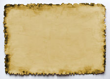 Vecchio documento bruciato Immagini Stock Libere da Diritti