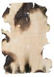 Vecchio documento bruciato fotografie stock