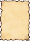Vecchio documento bruciato Fotografia Stock Libera da Diritti