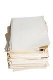 Vecchio documento cartaceo fotografia stock