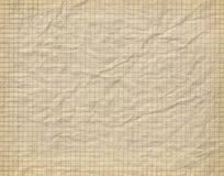 Vecchio documento checkered sgualcito Fotografie Stock Libere da Diritti