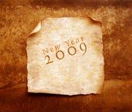 Vecchio documento con 2009 illustrazione vettoriale