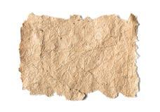 Vecchio documento con i bordi approssimativi Fotografie Stock Libere da Diritti