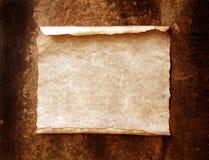 Vecchio documento con i bordi bruciati Immagine Stock Libera da Diritti