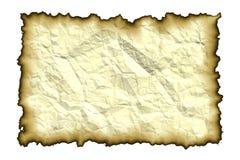 Vecchio documento con i bordi bruciati Immagini Stock Libere da Diritti
