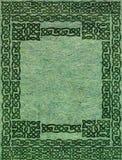 Vecchio documento con il blocco per grafici celtico Immagine Stock