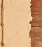 Vecchio documento con il bordo della corda Immagine Stock
