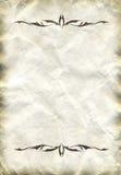Vecchio documento con il divisore decorativo Immagini Stock