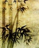 Vecchio documento con il reticolo di bambù Fotografia Stock Libera da Diritti