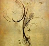 Vecchio documento con il reticolo floreale Fotografia Stock Libera da Diritti