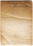 Vecchio documento con scarabocchio Fotografia Stock