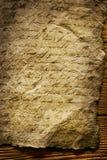 Vecchio documento con scrittura Immagini Stock