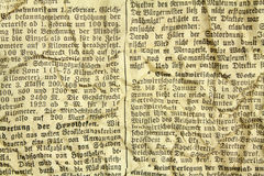 Vecchio documento con testo Fotografie Stock Libere da Diritti