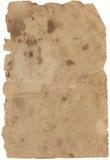Vecchio documento del Brown Immagine Stock