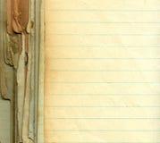 Vecchio documento del grunge con le righe Fotografia Stock Libera da Diritti