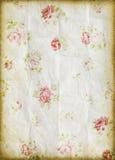 Vecchio documento del grunge, reticolo di fiore Immagini Stock